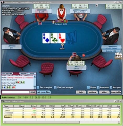 Программа для игры в покер Poker Evolver